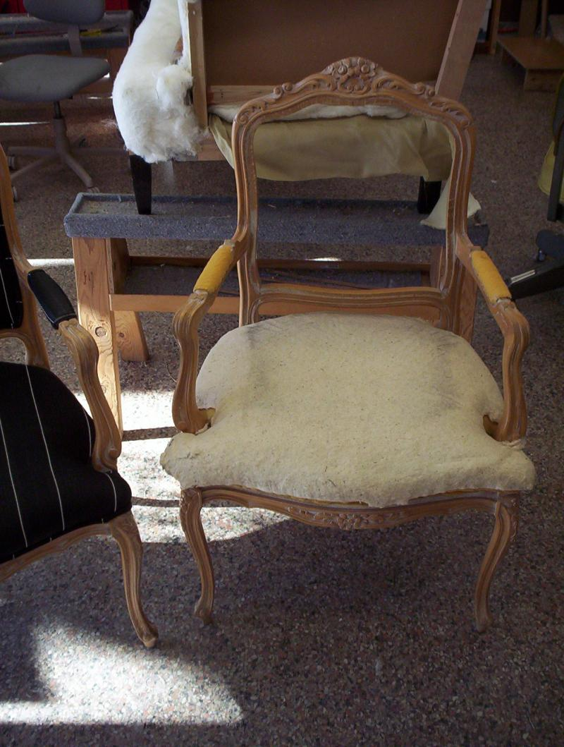Pull up chair before new fabric
