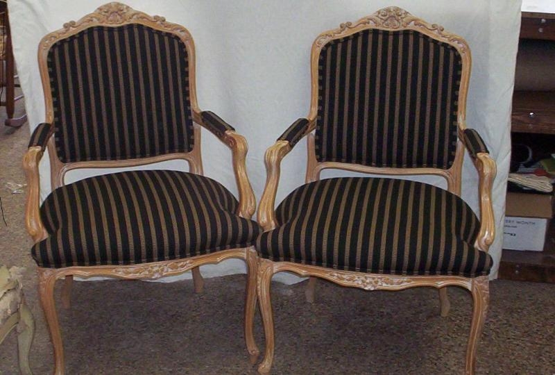 Matched completed chairs
